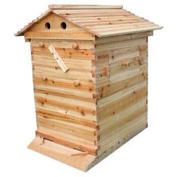 Wooden Bees Box Wooden Bee Hive House Beehive Kit Beekeeping Equipment Beekeeper Tool for Bee Hive