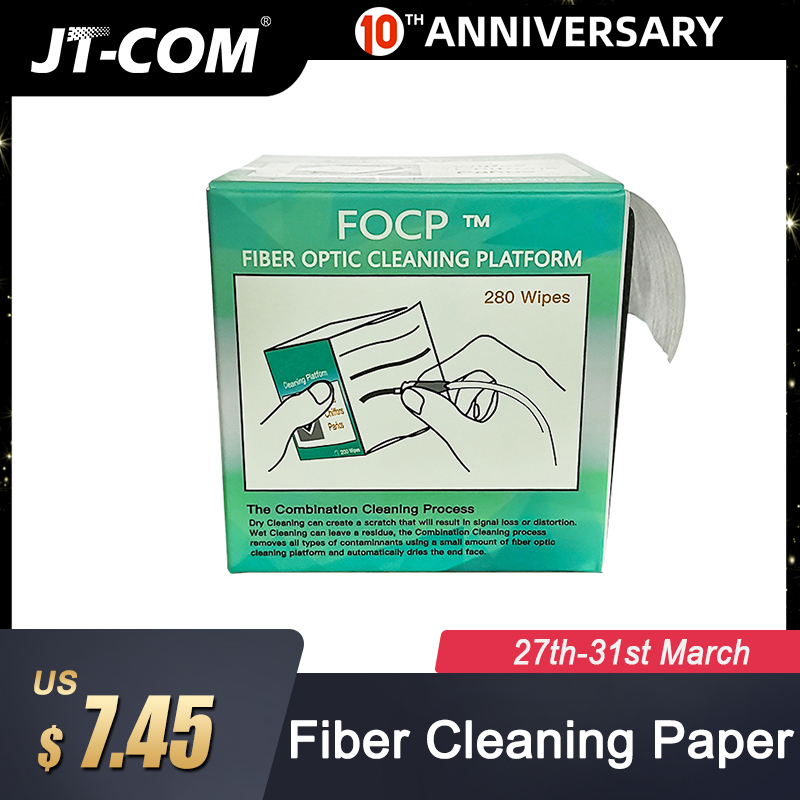 280pcs/box Fiber Cleaning Tool Dustfree Paper Fiber Optic Low-lint Wipes Low Dust Wiping Paper,fiber Clean Paper,FTTH Tools