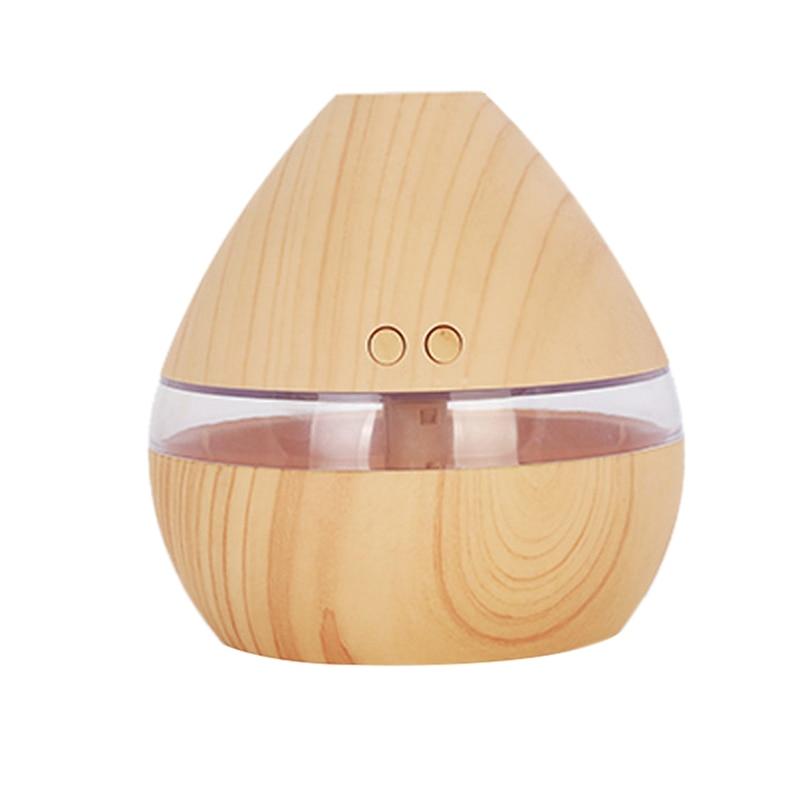 Ev Aletleri'ten Nemlendiriciler'de Aromaterapi uçucu yağ difüzörü 300Ml ahşap tahıl AROMA YAYICI zamanlayıcı ile serin buharlı nem aygıtı büyük odası  ev  bebek yatağı title=