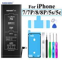 Nohon Bateria do apple iPhone 7 8 Plus 5S 7 Plus 7 P 8 P iPhone7 1700 ~ 3360mAh Bateria + narzędzia do iPhone 5S 8 7 Plus baterie 2019