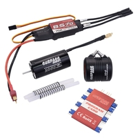SURPASS HOBBY Waterproof 2958 3380KV Motor W/ Water Cooling Jacket & 70A Brushless ESC Programming Card for RC Boat RC Accessori