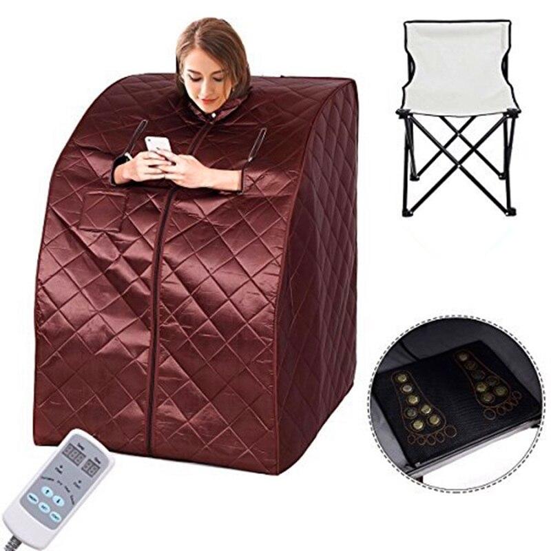 Salle de Sauna Infrarouge Sauna Minceur D'ions Négatifs Thérapie De Désintoxication Personnelle Sauna Fir Chauffant Jade Pied De Chaise Pliante