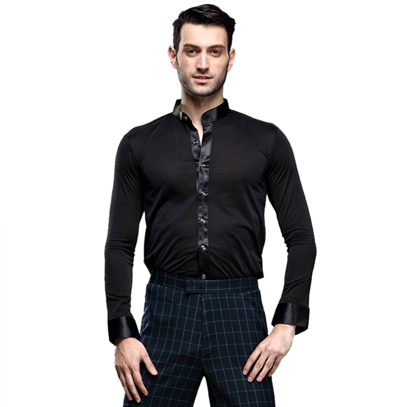 Image 5 - Hot Selling Dancewear Mens Dance Shirt Breathable Latin Dance Clothes Comfortable Stage Wear Ballroom Competition ClothingBallroom   -