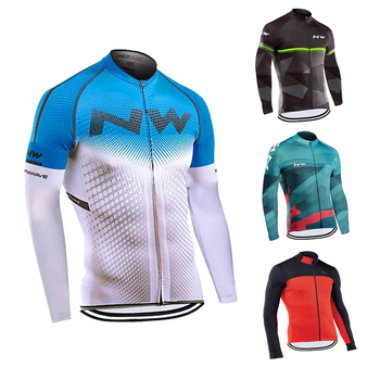 2020 New NW men breathable cycling clothes Northwave long sleeve bike shirt MTB 19D gel pad outdoor