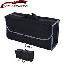 Органайзер SPEEDWOW для багажника автомобиля, мягкий автомобильный фетровый ящик для хранения, грузовой контейнер, сумка для багажника, многофункциональный держатель для уборки