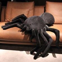 20cm-80cm llifelike plushies aranha animais de pelúcia simulação brinquedo complicado tamanho grande vida real aranha jogar travesseiro crianças brinquedo