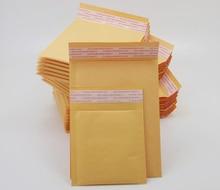 100 ชิ้น/ล็อต 20 ขนาดสีเหลืองกระดาษคราฟท์ฟองซองกระเป๋าเบาะMailersการจัดส่งซองจดหมายฟองMailing Bag