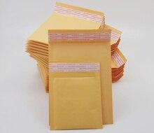 100 개/몫 20 크기 옐로우 컬러 크래프트 종이 버블 봉투 가방 패딩 메일러 배송 봉투 버블 메일 링 가방