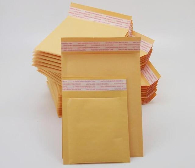 Bolsas acolchoadas para envelopes, sacos envelopes bolhas de papel amarelo de 20 tamanhos 100, pçs/lote