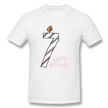 Number 7 Take A Cake 7th Birthday Party t shirt men Casual Fashion Mens Basic Short Sleeve T-Shirt boy girl t-shirt top tees
