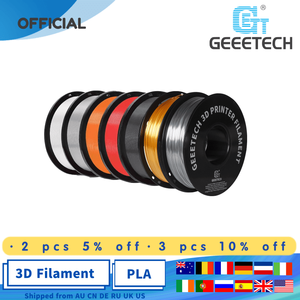 Image 1 - geeetech 1kg  PLA Filament 1.75mm 1kg/Roll For 3D Printer With White Black Muticolor Luminous Green Wood Red Slik glod Color