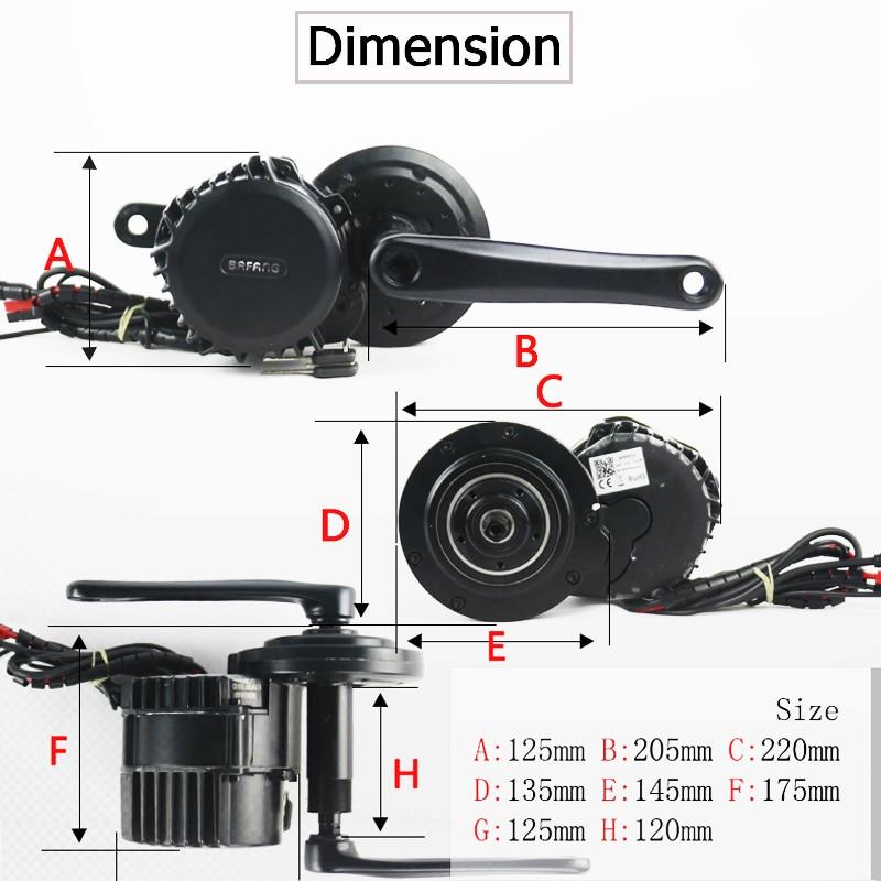 Bafang BBSH02 silnik typu middrive 48V 750W tsdz2 zestaw do konwersji silnika elektrycznego z 48V 13AH Hailong ebike akumulator rowerowy