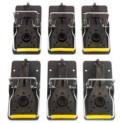 Nowa pułapka na mysz  wielokrotnego użytku i łatwe w użyciu pułapki zatrzaskowe  zestaw 6 sztuk