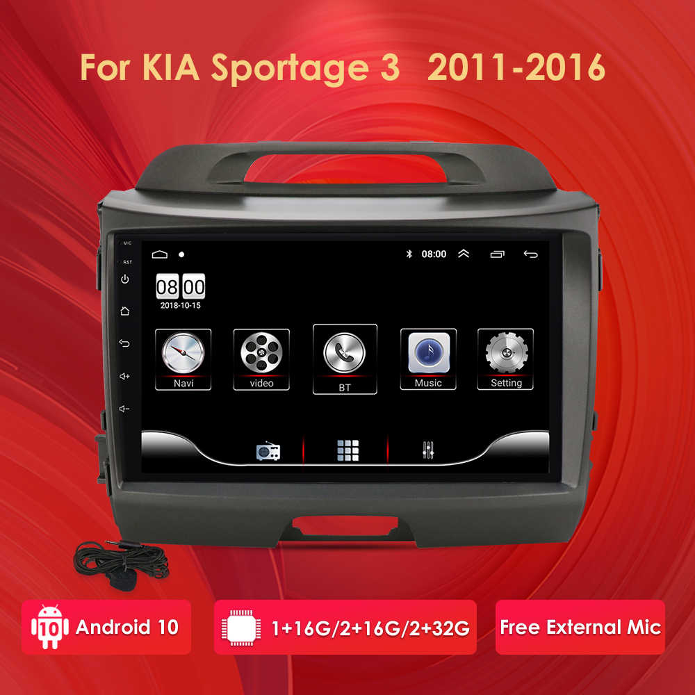 2G + 32G Android 10 Auto Radio Multimedia Video Player di Navigazione GPS 2 din Per KIA Sportage 3 2010 2011-2016 no dvd