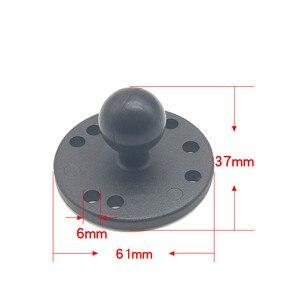 Image 3 - Aluminium Runde Basis 1 inch Ball Montieren mit AMPS Loch Muster für arbeit Kameras GPS Smartphone