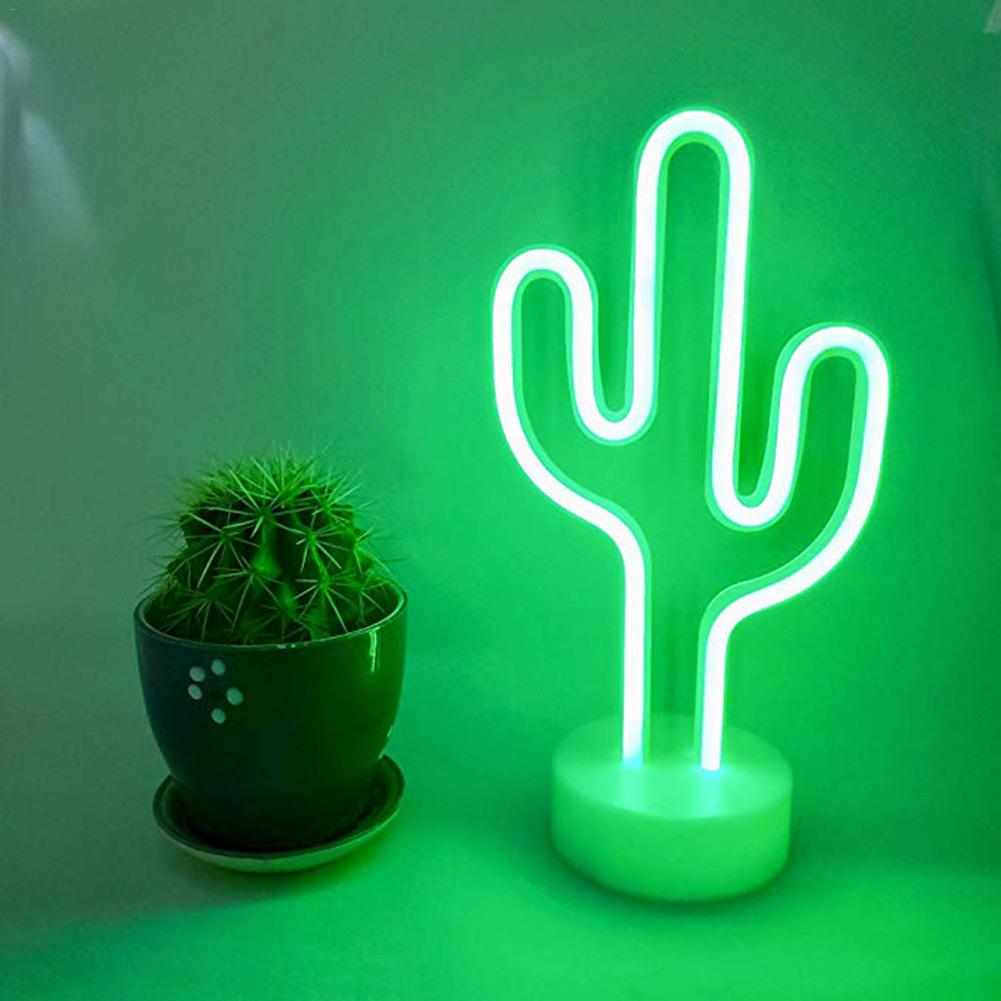 Rainbow Led Neon Light Cactus Night Light Holiday Christmas Party Wedding Decorations Kids Room Home Decor Cactus Neon Lamp