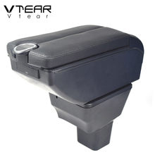 Vtear Auto Armlehne Box Lagerung Zubehör Tasse Halter Zentrale Steuerung inneren Teile Innen Dekoration Styling Für Nissan Kicks