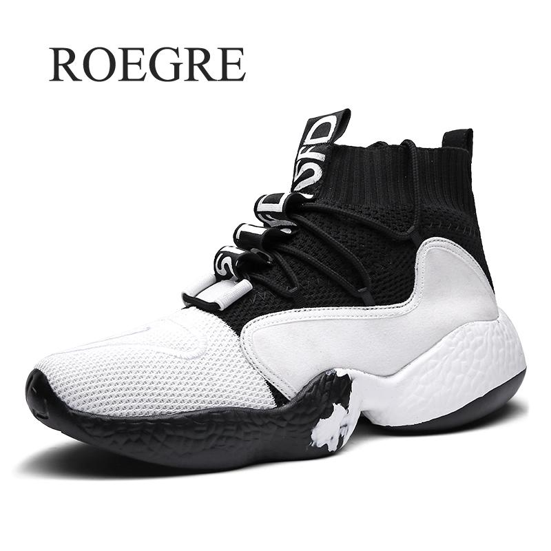 Man Sneaker For Men Brand Outdoor High Top Shoes Elastic