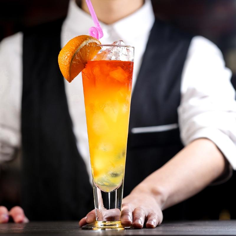 High Flutes Shape Specialty Restaurant Milkshake Fruit Juice Collins Glass Lounge Bar Beer Steins Cocktail Cup Highball Glasses