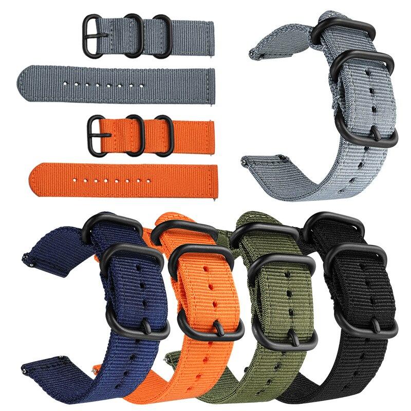 Easy Fit Nato Premium Nylon Strap For Garmin Fenix HR Watch Band Quick Release Replacement Wristband