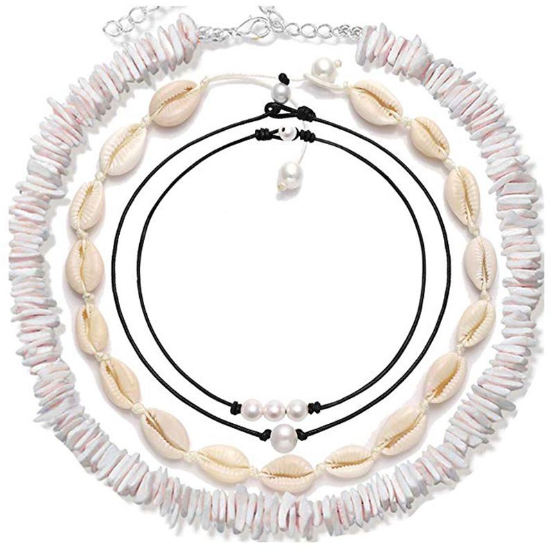 Artilady natural puka shell choker necklace women simulated pearl cowrie necklaces for women beach jewelry gift  Dropshipping