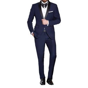 Image 3 - Resolution Blue Men Tuxedo Wedding Tailor Made Wedding Suits For Men 2019 Stylish Blue Suits With Pants Costume Homme Mariage