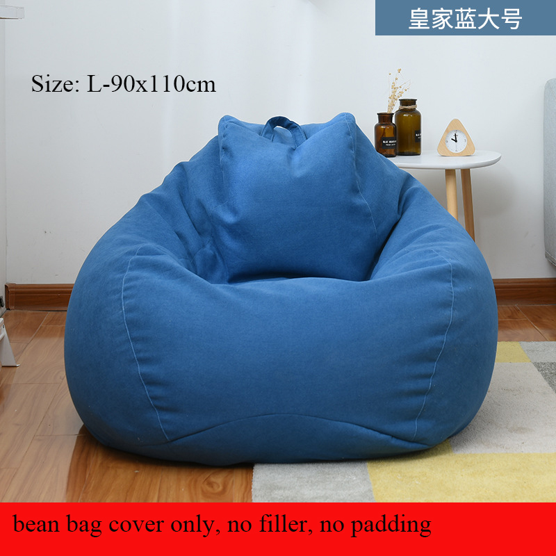Bean Bag Sofa Cover Lounger Sofa Chair Seat Without Filler Lazy Beanbag Sofa Bed Pouf Puff Couch Tatami Living Room Furniture
