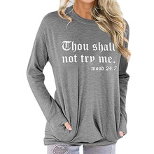 Cotton Letter Print Womens Tops And Blouses Casual O Neck Long Sleeve Top Female Tunic 2020 Spring Plus Size Women Top Blouse
