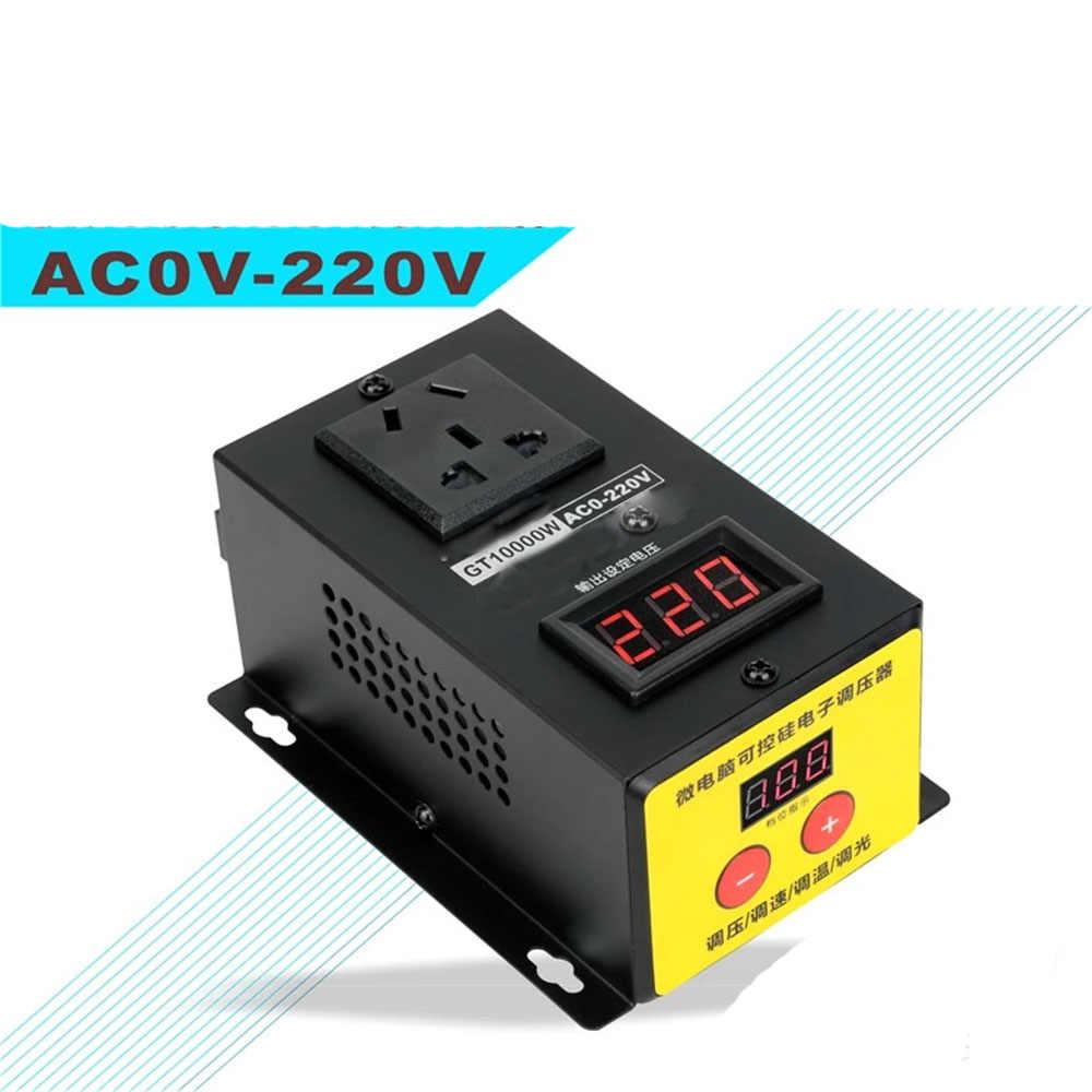 Regulador de voltaje de CA 220V 10000W Alta Precisión Ajustable Tiristor electrónica