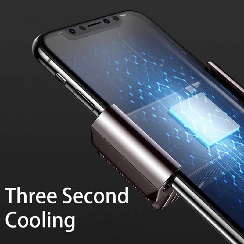 Gran oferta 2020 ventilador de refrigeración portátil para juego, Enfriador de teléfono móvil, disipador de calor para Audio Aux, radiador para IPhone/Samsung/Xiaomi Accesorios