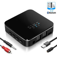 Wireless Bluetooth 5.0 Adapter AUX USB Receiver CSR8675 AptX HD LL Low Latency TV PC Bt Wireless Audio Home Car Transmitter