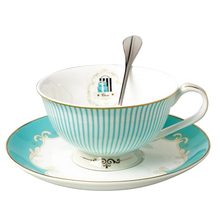 Promotion--British Style Classic Coffee Cup Set Luxury Gift Ceramic Tea Cups And Mugs