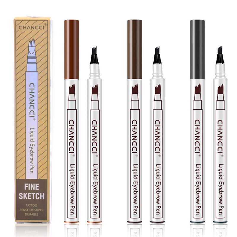 Microblading Tattoo Eyebrow Pencil Long Lasting Waterproof Fork Tip Makeup Ink Sketch Eye Brow Pen KG66