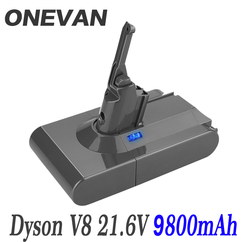 9800mAh 21.6V Battery For Dyson V8 Battery For Dyson V8 Absolute /Fluffy/Animal/ Li-ion Vacuum Cleaner Rechargeable Battery &6.8