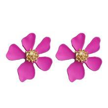 Korean New Fashion Earrings for Women Color Five-petal Small Flower Stud Girl Dress Accessories Wild Jewelry CEL167