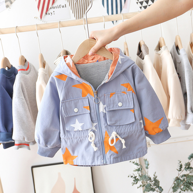 BOY'S Coat Childrenswear Spring Clothing 2020 New Style Boy Spring And Autumn Western Style Fashion Baby Small CHILDREN'S Infant