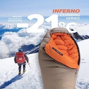 Image 3 - Naturehike saco de dormir de ganso blanco para adulto, a prueba de viento, impermeable, para acampar al aire libre y senderismo NH19YD004