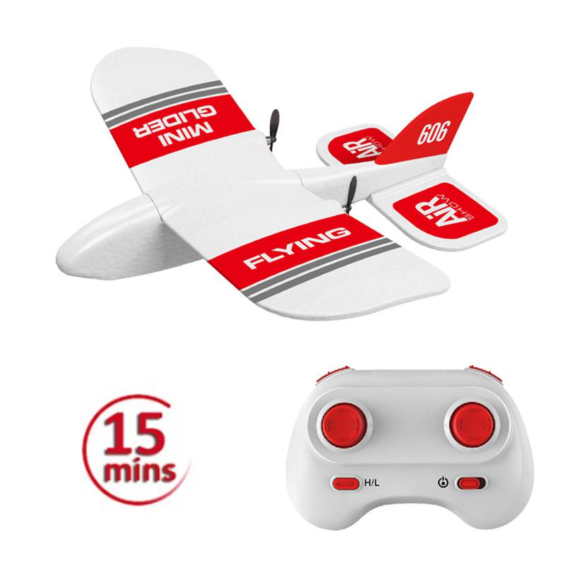 None 2.4Ghz RC Airplane Flying Aircraft EPP Foam Glider Toy Airplane 15 Minutes Fligt Time RTF Foam Plane Toys Kids Gifts