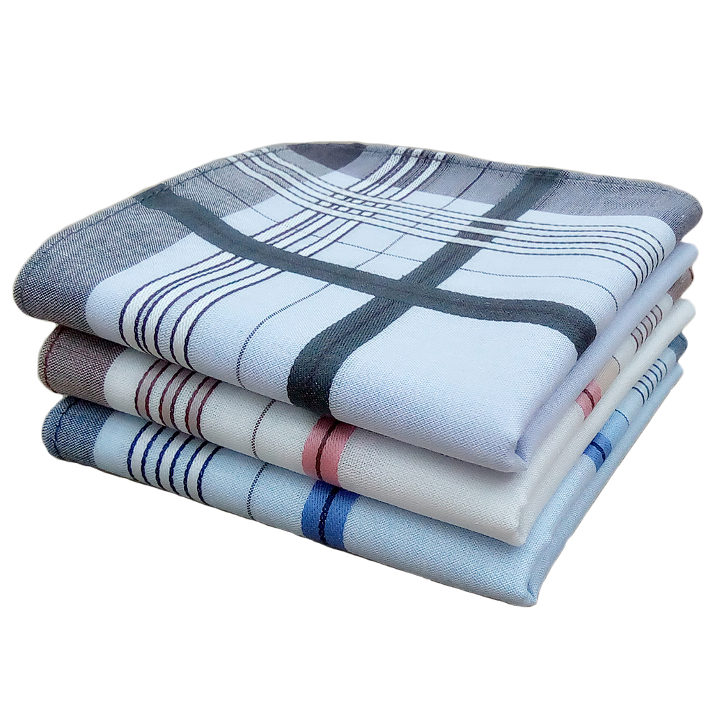 12pcs Mens Mulit Striped Handkerchief Pocket Square Hanky Party Cotton Blend  38*38cm
