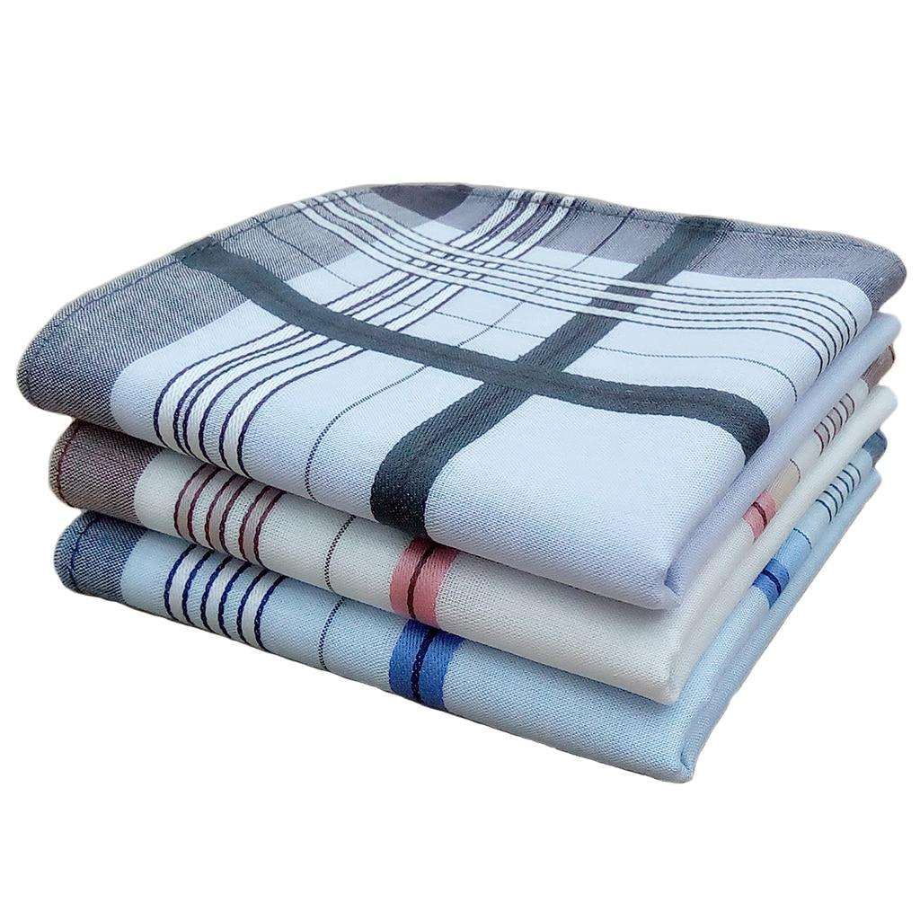 12pcs Mens Mulit Striped Handkerchief Pocket Square Hanky Party Cotton Blend  38*38cm