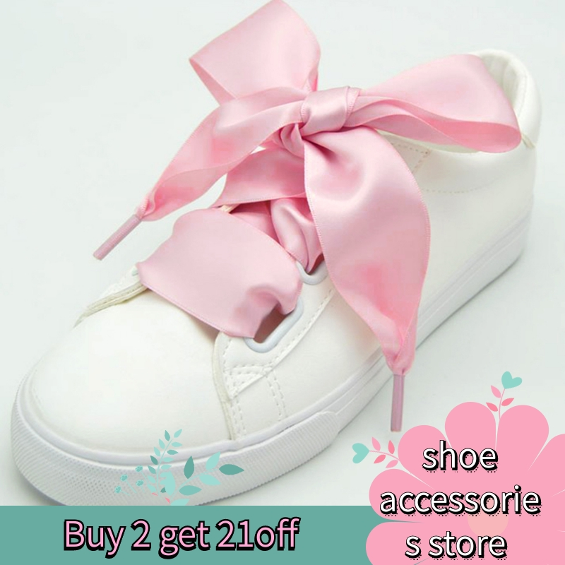 1 Pair Of 4 Cm Wide And 80 Cm Flat Satin Ribbons Laces Polyester Laces Sneakers Sneakers Lace Color Laces Multicolor Laces