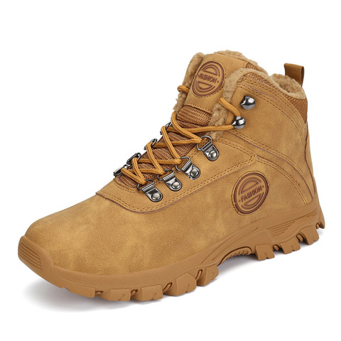 Winter Fur Boots Men Shoes Safty Military Boots Outdoor Snow Boots Army Boots Ankle Warm Shoes Casual Flats zapatos de hombre Lahore