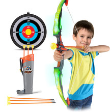 Flashing Shooting Sword Bow Arrow Set Light saber Laser  toys Parent-child Interaction Outdoor sports Play Game toy Gifts