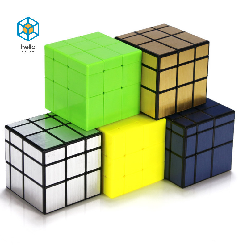 3x3x3 Mirror Cube Rainbow Smooth Twist Speed Cube Mirror Block Puzzle Cube