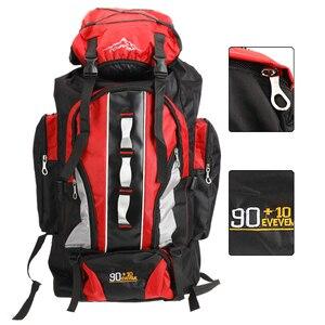 Image 1 - 100L büyük kapasiteli açık spor sırt çantası su geçirmez seyahat çantası yürüyüş tırmanma balıkçılık kamp çanta erkekler ve kadınlar için