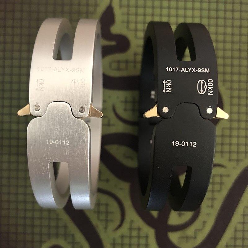 Alyx Bracelet 1:1 베스트 버전 ALYX 알루미늄 합금 남성 여성 Unisex ALYX Bracelet