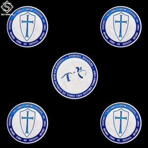 5 шт. крестоносцы крест священный меч Синие Рыцари Тамплиер Евро Сувенир серебро копия монеты коллекция