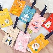 Fashion Creative Animal  Baggage Boarding Tag Portable Label Cartoon Silica Gel ID Addres Luggage Tags Travel Accessories