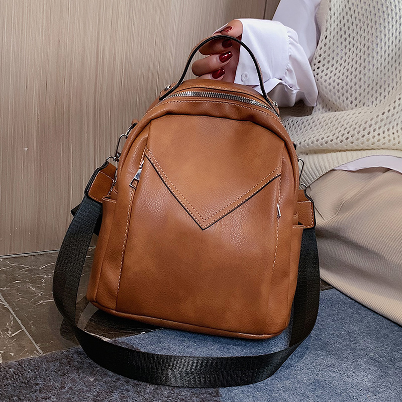 Nubuck PU Leather Backpacks For Women 2019 Fashion Small Backpack Lady Back Pack For School Teenagers Girls Suede Shoulder Bag