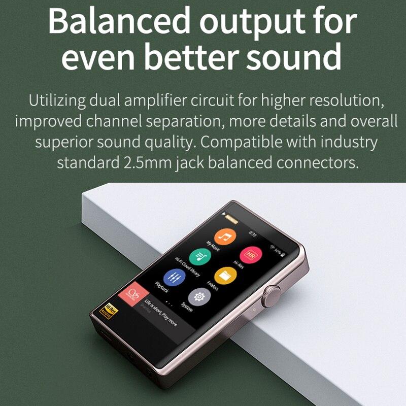 SHANLING M2X Hi-Res AK4490 DAC USB DSD Wifi Bluetooth HIFI Music MP3 Player PCM 32/384 Touch Screen Type C 5